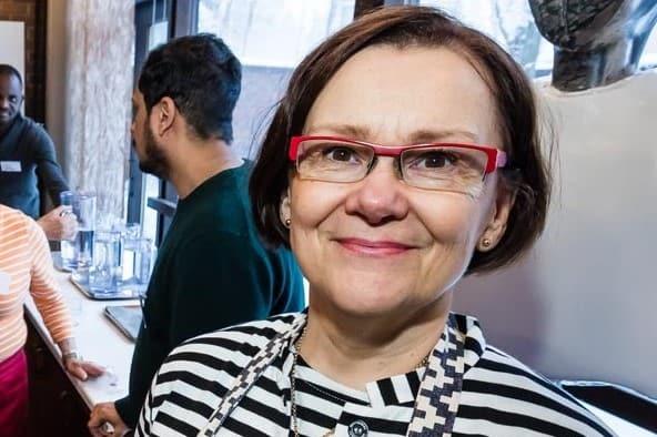 Riitta Holmlund Helsingistä ravintola Salaamissa.